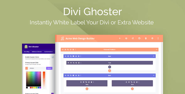 Divi Ghoster 5.0.2 Nulled - White Label Divi Plugin