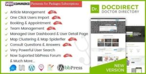 DocDirect 8.0.9 - WordPress Theme for Doctors and Healthcare Directory
