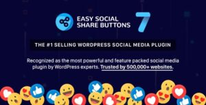 Easy Social Share Buttons for WordPress 7.3 Nulled