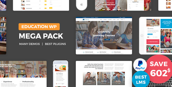 Education Pack 1.6 - Education Learning Theme WP