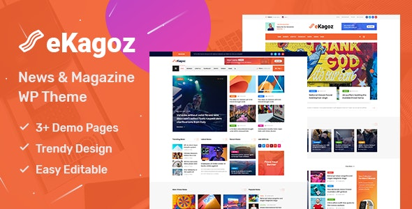 eKagoz 1.0 - News Magazine WordPress Theme