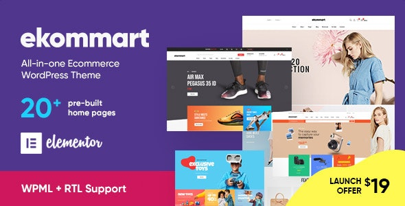 ekommart 1.9.1 - All-in-one eCommerce WordPress Theme