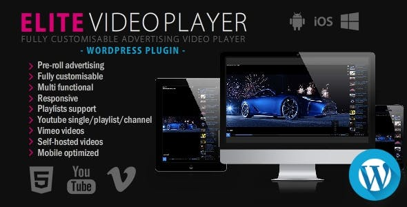 Elite Video Player 6.1 - WordPress plugin
