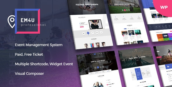 EM4U 1.3.7 - Events WordPress Theme for Booking Tickets