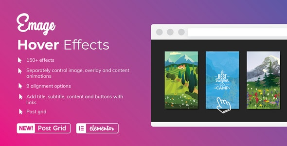 Emage - Image Hover Effects for Elementor 4.3.0 Nulled