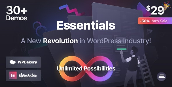 Essentials 1.0.5 Nulled - Multipurpose WordPress Theme