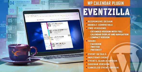 EventZilla 1.2.1 - Event Calendar WordPress Plugin