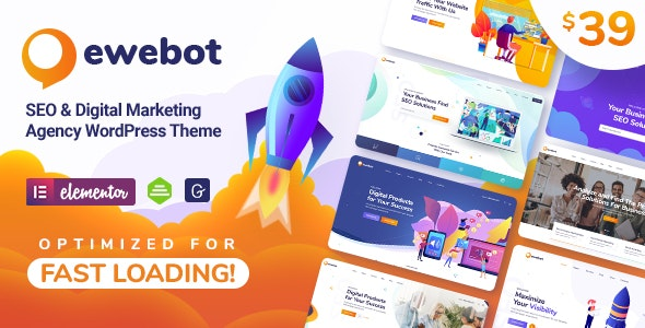 Ewebot 2.1.5 Nulled - Marketing SEO Digital Agency WordPress Theme