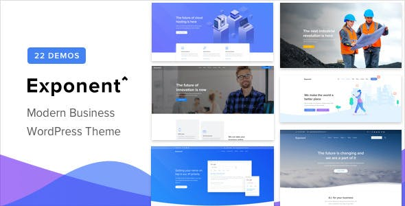 Exponent 1.2.8.7 - Modern Multi-Purpose Business WordPress theme