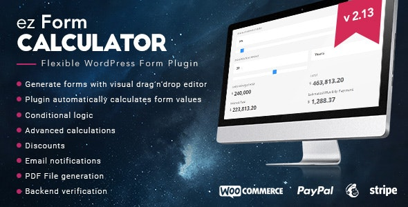 ez Form Calculator Premium 2.13.0.5 Nulled - WordPress plugin