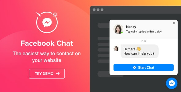 Facebook Chat v1.2.0 - WordPress Facebook Messenger