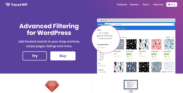 FacetWP 3.6.1 (+Addons) - Filtering and Faceted Search WordPress Plugin