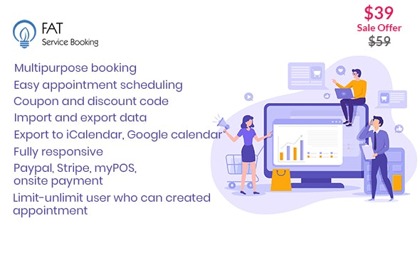 Fat Services Booking 2.8 - Automated Booking and Online Scheduling