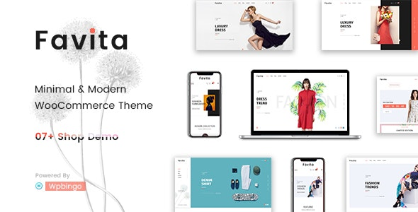 Favita 1.0.1 - Fashion WooCommerce WordPress Theme