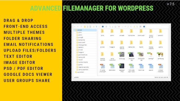 File Manager Plugin For WordPress 7.5.1