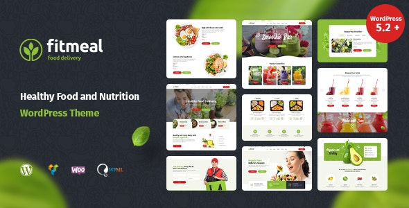 Fitmeal 1.2.4 - Organic Food Delivery and Healthy Nutrition WordPress Theme