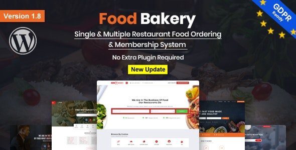 FoodBakery 2.0 Nulled - Food Delivery Restaurant Directory WordPress Theme