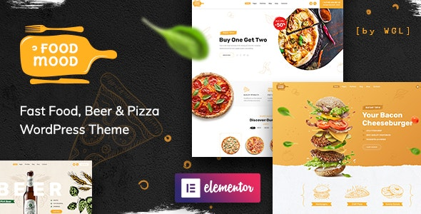 Foodmood 1.0.3 (Nulled) - Cafe & Delivery WordPress Theme