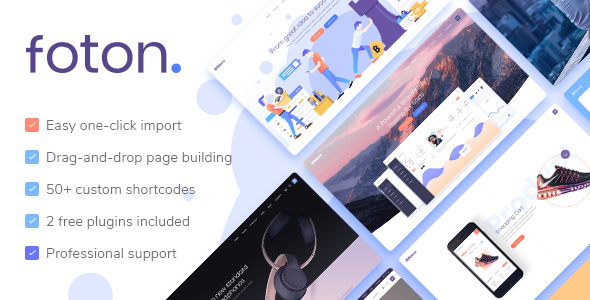 Foton 1.6.0 Nulled - Software and App Landing Page Theme