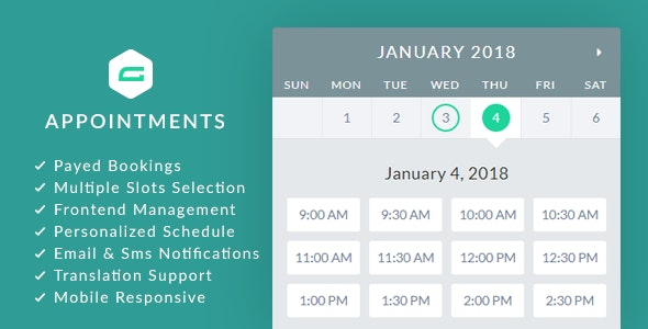 gAppointments 1.9.4 - Appointment booking addon for Gravity Forms