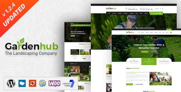 Garden Hub 1.2.4 - Lawn & Landscaping WordPress Theme