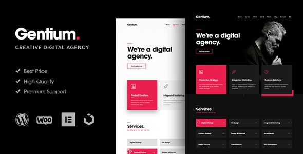 Gentium 1.1.7 - A Creative Digital Agency WordPress Theme
