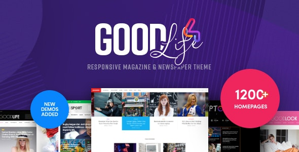 GoodLife 4.2.0 Nulled - Magazine & Newspaper WordPress Theme