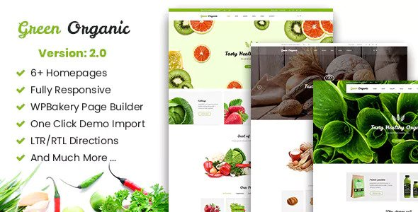 Green Organic 2.6 - Organic Store & Bakery WooCommerce WordPress Theme