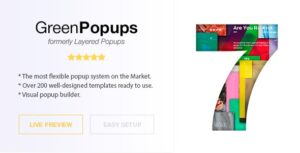 Green Popups 7.08 (formerly Layered Popups) - Popup Plugin for WordPress