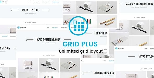 Grid Plus 2.9 - Unlimited Grid Layout WordPress Plugin
