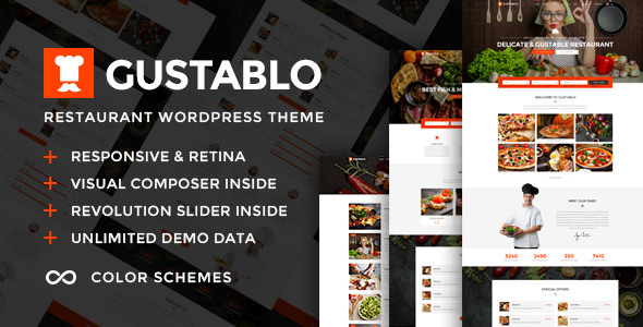 Gustablo 1.2 - Restaurant & Cafe Responsive WordPress Theme