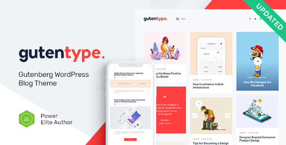 Gutentype 1.9.3 (Nulled) - 100% Gutenberg WordPress Theme