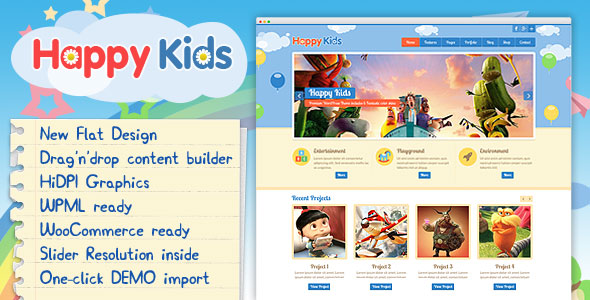 Happy Kids 3.5.2 Nulled - Children WordPress Theme
