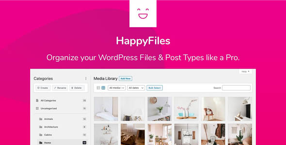 HappyFiles Pro 1.4 - WordPress Media Folders
