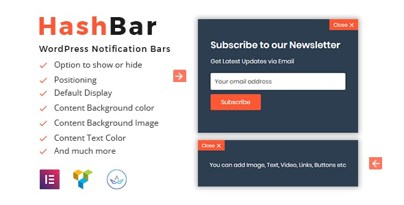 HashBar Pro v1.1.6 - WordPress Notification Bar Free Download