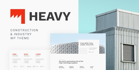 Heavy 1.0.2 - Industrial WordPress Theme
