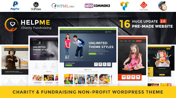 HelpMe 2.8 - Nonprofit Charity WordPress Theme