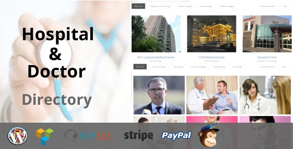 Hospital & Doctor Directory 1.2.9 - WordPress Plugin