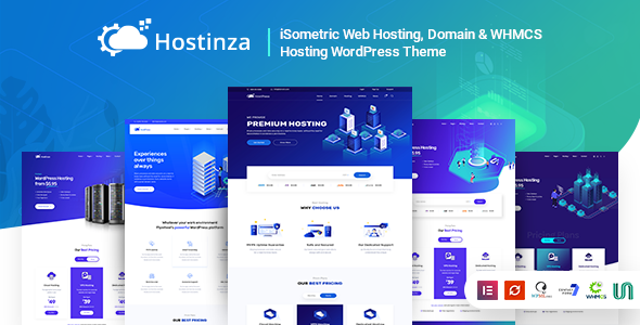 Hostinza 2.1 - Isometric Domain & Whmcs Web Hosting WordPress Theme