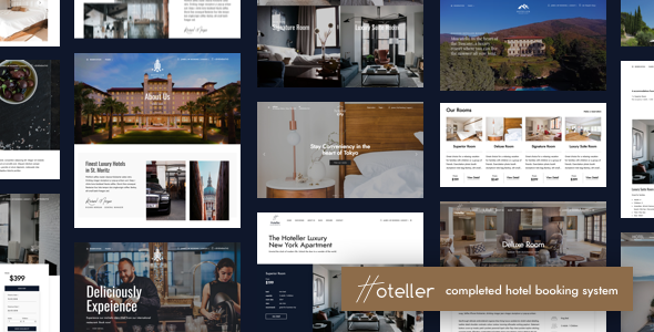 Hoteller 4.4.1 Nulled - Hotel Booking WordPress Theme