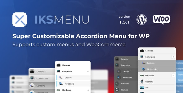 Iks Menu 1.8.3 Nulled - Super Customizable Accordion Menu for WordPress
