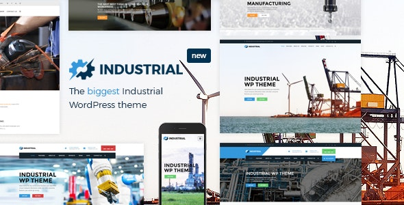 Industrial 1.4.8 - Factory Business WordPress Theme