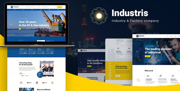 Industris 1.0.6 - Factory & Business WordPress Theme