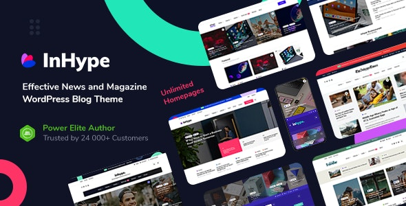 InHype 1.2.1 Nulled - Blog & Magazine WordPress Theme