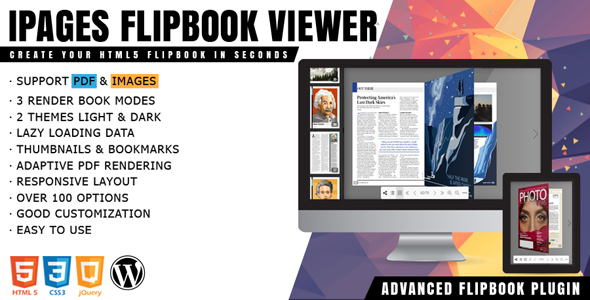 iPages Flipbook 1.3.4 - PDF Viewer For WordPress Plugin