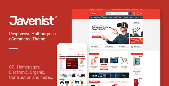 Javenist 1.2.3 - Multipurpose eCommerce WordPress Theme