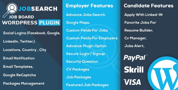 JobSearch WP 1.5.8 - Job Board WordPress Plugin
