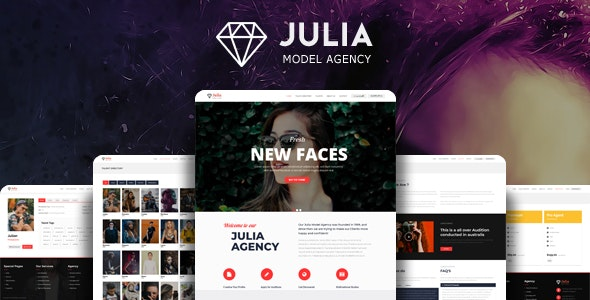 Julia 2.0.7 - Talent Management WordPress Theme