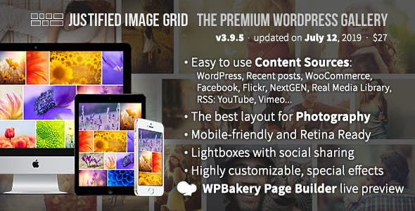 Justified Image Grid 3.9.5 - Premium WordPress Gallery