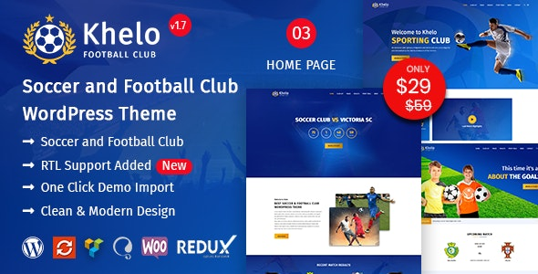Khelo 2.2 - Soccer WordPress Theme